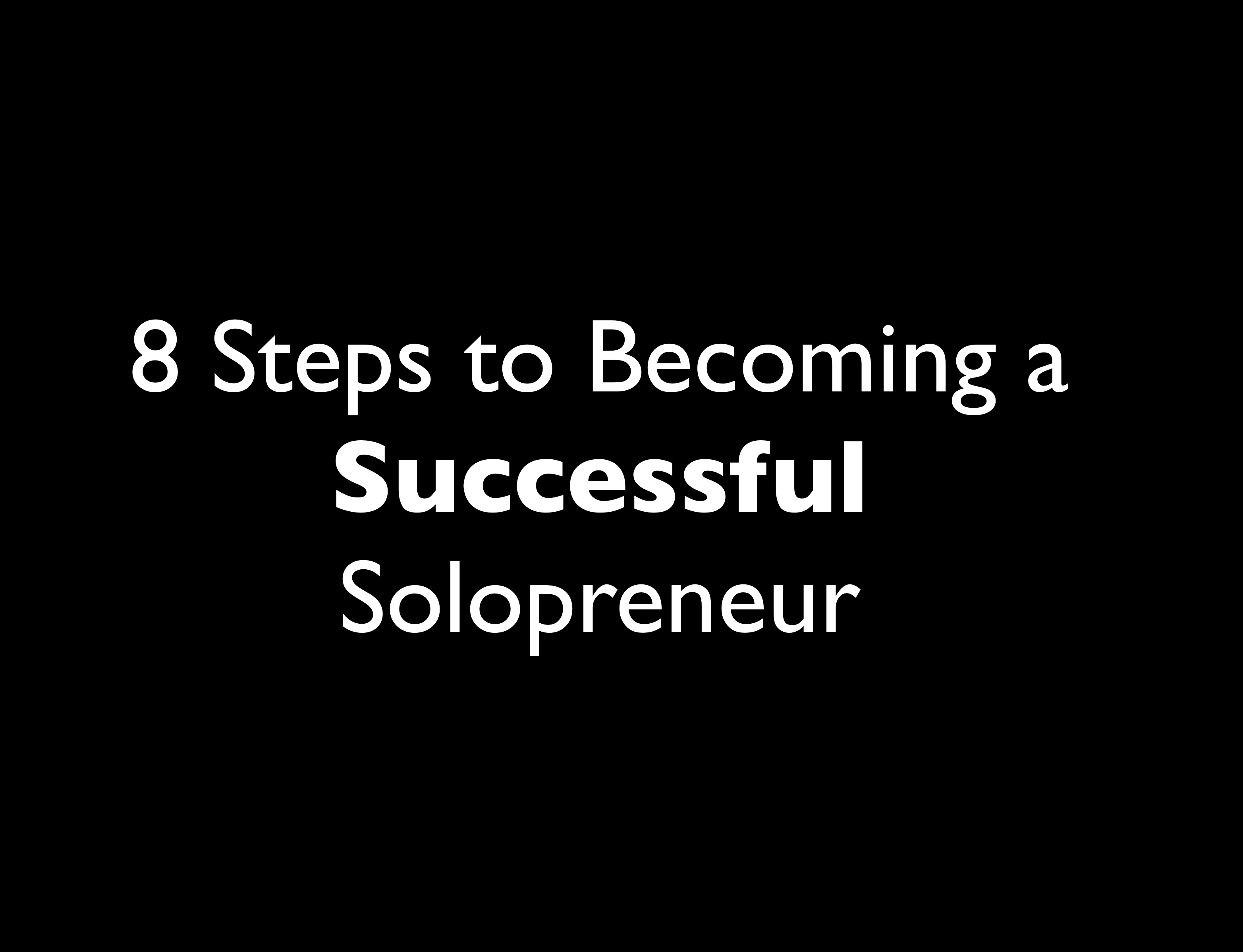 10: The 8 Steps to Becoming a Successful Solopreneur with Dawn Marrs