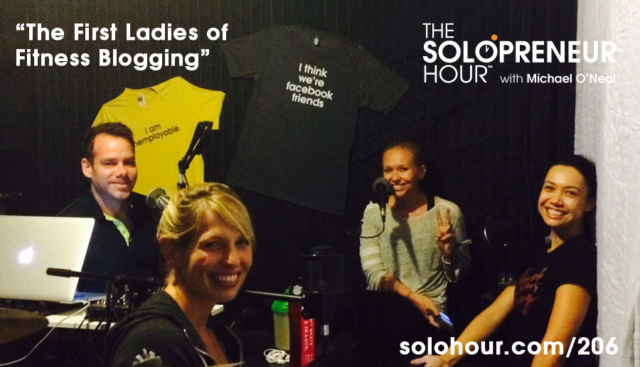 206: The Top 3 Female Fitness Bloggers in Studio, with Amy Clover, Krista Stryker and Jenny Sansouci