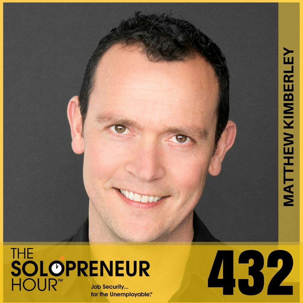 432: Matthew Kimberley Is Funny, Smart, and Irreverent. And Now Solo.