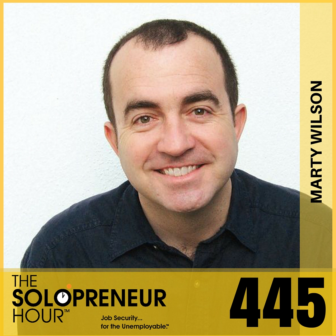 445: How Comedy Can Improve Your Writing and Speaking, with Marty Wilson