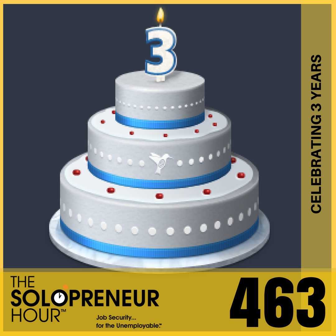 463: Celebrating 3 Years of The Solopreneur Hour Recapping My Journey