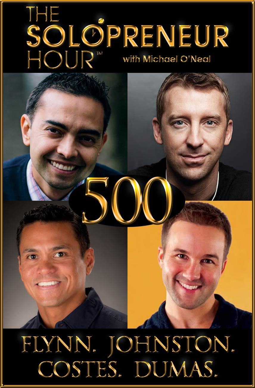 500: Pat Flynn, Mike Johnston, Dr. Mark Costes, John Lee Dumas for the Most Epic Show Ever