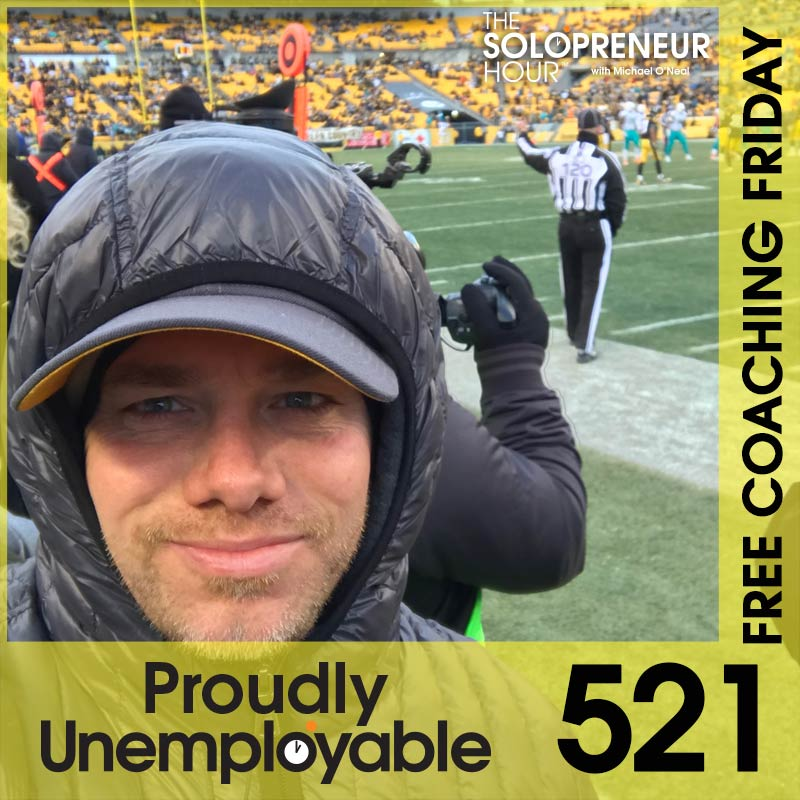 521: Free Coaching Friday (Halfie).  Answering Your Solopreneur Questions