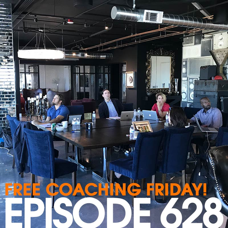 628: Public Speaking Tips, and Podcast Recording Without A Recorder (Free Coaching Friday!)