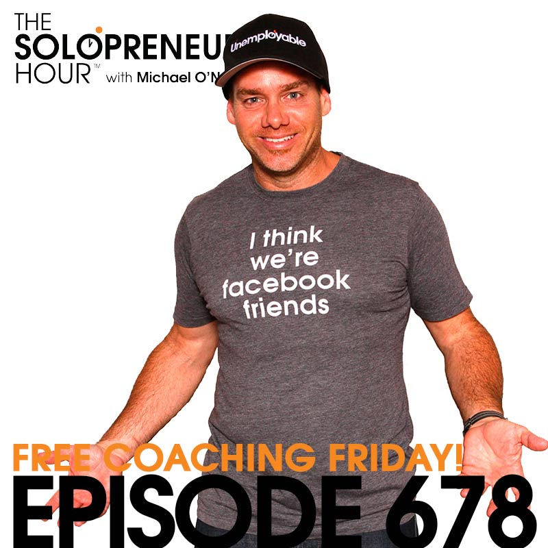 678: Podcast planning, Instagram tips, Live Events, and More… | Solopreneur Coaching