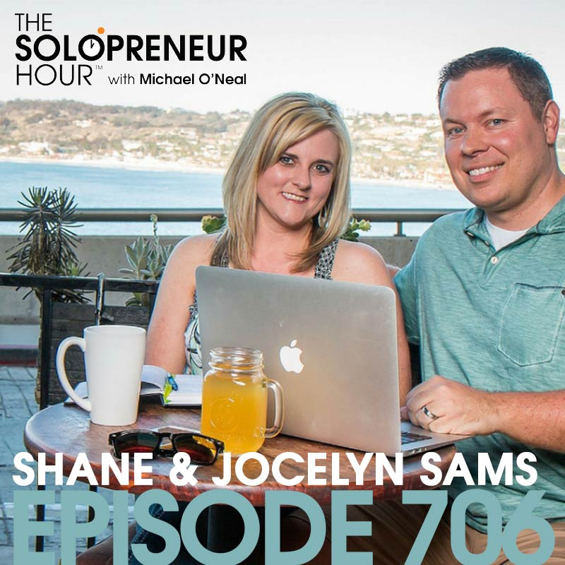 706: From Teacher and Librarian to Digital Entrepreneurs, with Shane and Jocelyn Sams (best of)
